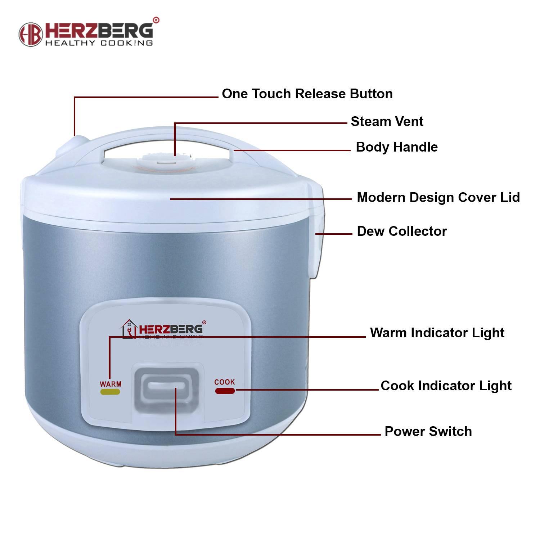 Cocina Eléctrica Multifunción 700W  1.8L - Herzberg HG-8004
